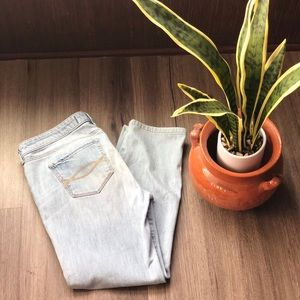 A&F light wash jeans no rips or distress